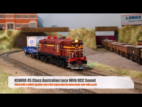 Auscision NSWGR 45 Class With DCC Sound Using A Small, Powerful Speaker