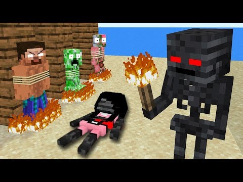 Monster School : WITHER SKELETON BECAME VILLAIN - Minecraft Animation