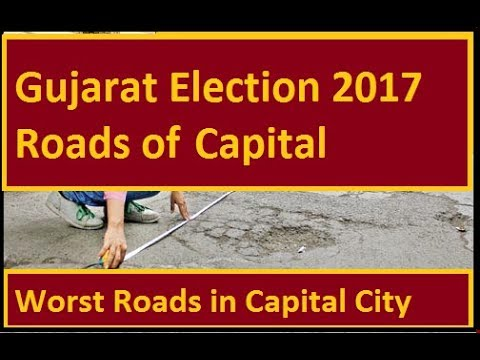 Worst Road of Gandhinagar The Capital of Gujarat Worth Sharing while Gujarat Election 2017