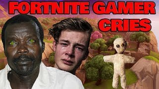 African Rebel VOICE TROLLING! Fortnite Gamer Cries Over Real Address Located! (KONY)