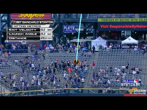 MIA@COL: Stanton mashes 478-foot homer at Coors Field