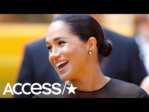 12-Year-Old Girls Give Meghan Markle Adorable Baby Gift At 'Lion King' Premiere