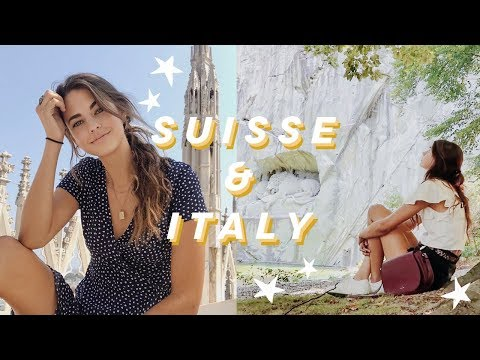 travel with me to switzerland and italy | lucerne & lugano & milan