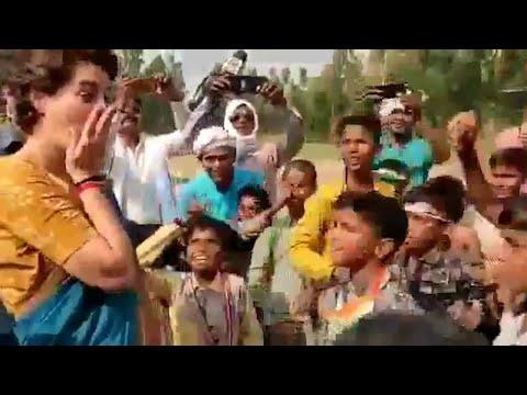 Priyanka Gandhi's video with kids raising anti-Modi slogans goes viral