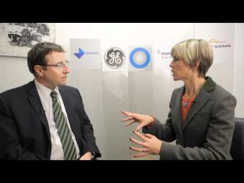 UN Environment Program Under Secretary General Achim Steiner speaks with Edie Lush at Hub Davos