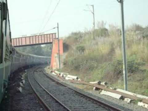 Massive Curve Circular ŕailway tracks of Indian Railway !! The Mughalsarai-kashi Line curve