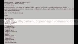 Depeche Mode 1986.08.16 Valbyparken, Copenhagen (Denmark) Original Vinyl Resimi