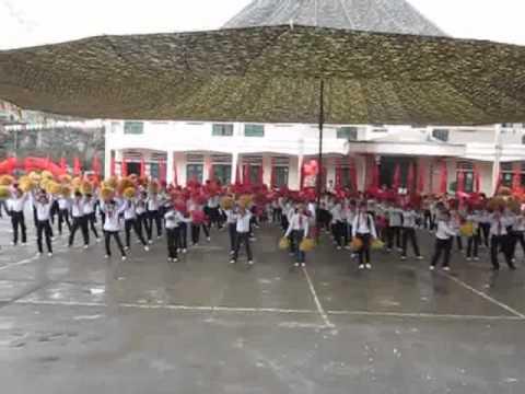 Màn đồng diễn công nhận trường chuẩn quốc gia của trường THCS Nguyễn Trãi