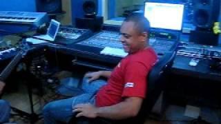 Banda Calypso no Studio gravando a Música...Noite Fria Cama Vazia.  vol.16