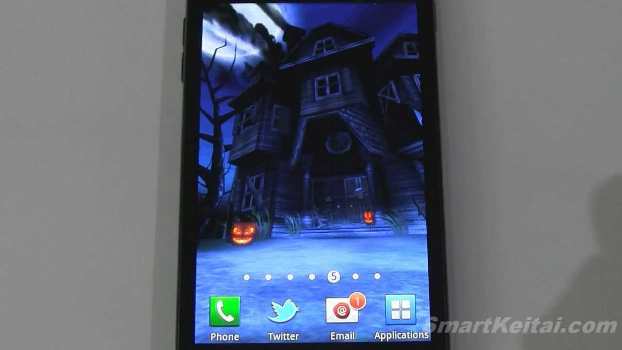 haunted house hd halloween live wallpaper for android reviewed on epic 4g touch galaxy tab 101 youtube