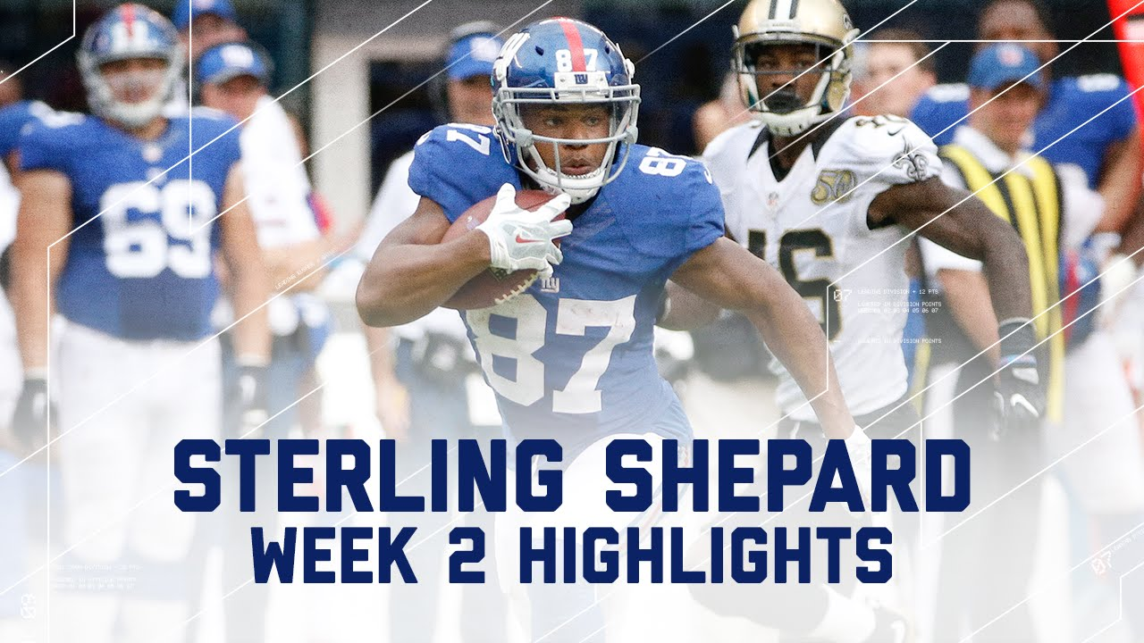 Sterling Shepard 1st Career 100 Yard Game Saints Vs Giants Nfl Week 2 Player Highlights