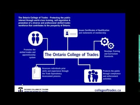 Skilled Trades Recognition Process  - Ontario