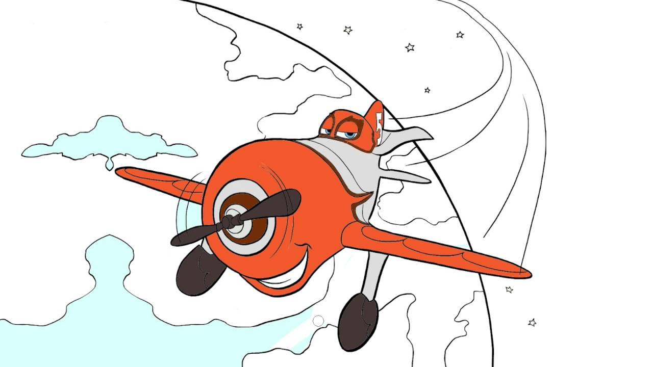 Pintando Aviones Parte 3 Disney Colorear A El Chupacabra Juego De Pintar Manitas Pintando