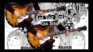And Your Bird Can Sing - 2 Lead Guitar Variations - Bass and Drums Instrumental