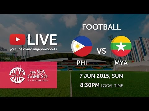 Football Philippines vs Myanmar (Jalan Besar stadium) | 28th SEA Games Singapore 2015