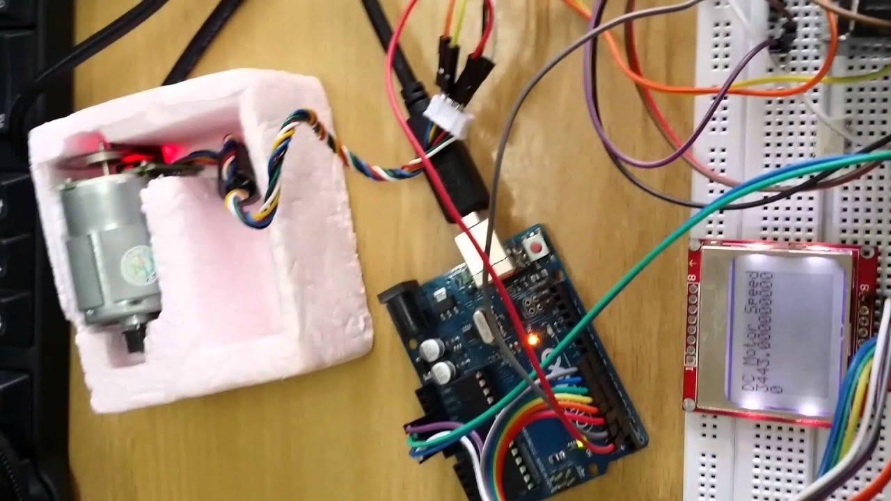 Test pid controller arduino uno dc motor encoder youtube for Dc motor with encoder arduino code
