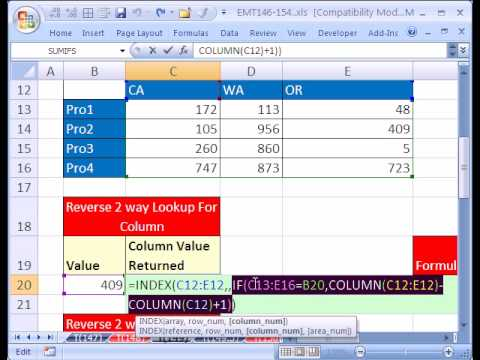 Excel Magic Trick #149: Reverse 2-Way Lookup No Duplicates