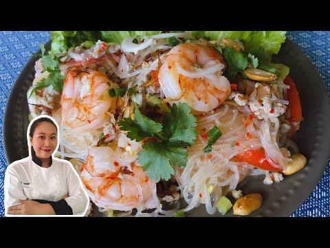 thai-salad-•-spicy-glass-noodle-salad---yum-woon-sen-|-thaichef-food