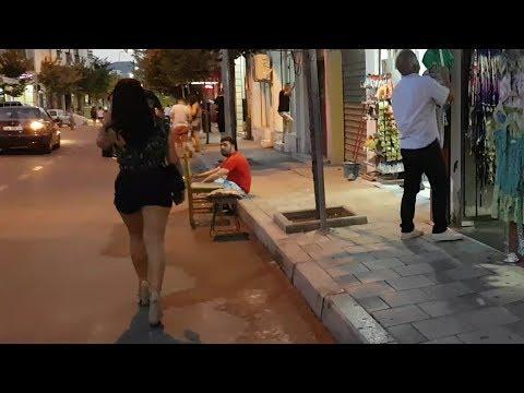 Nightlife Walking in Tirana Albania!
