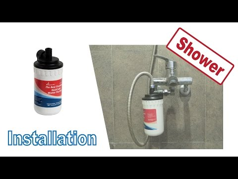 Installing CF-12CH in Shower and Bath - Aquaclio Hot & Cold Water Purifier