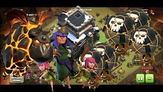 Th9 lavaloon attack , th9 lavaloon attack strategy, th9 best laloon attack, clash of clans lavaloon,