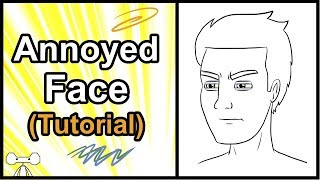 How to Draw Facial Expressions and Emotions - Annoyed Face Tutorial