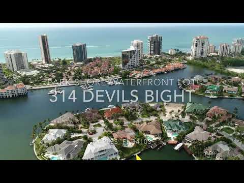 Park Shore - Naples, FL navigable waterfront lot for sale - Daane Properties - Naples Real Estate