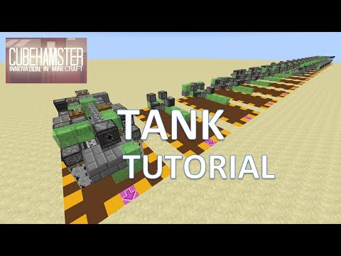 Minecraft: Tank - How to make a working Tank tutorial