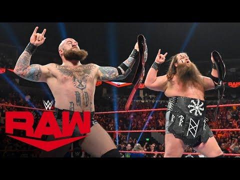 The Viking Raiders Capture Raw Tag Team Titles: Raw, Oct. 14, 2019