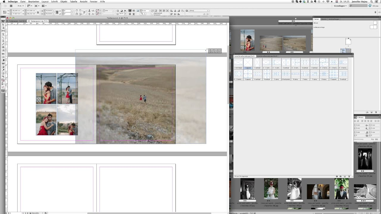 Easy album design with InDesign Templates - Jennifer Hejna - YouTube