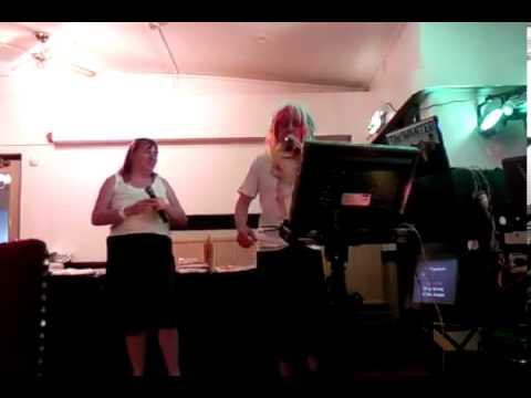 mad dog karaoke Julie singing  feel love song