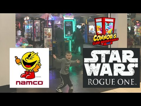 ⭐️Star Wars Rogue One & Pacman Claw Machines!! Namco Arcade!!⭐️