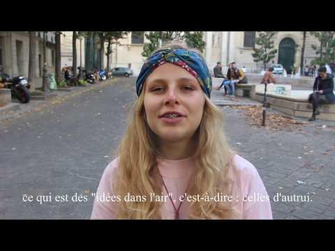 Les Faux-Monnayeurs: scène à la Sorbonne