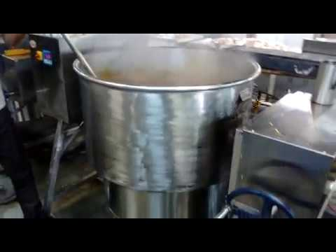 Stock Pot Sambar Making in Commercial Induction Equipment