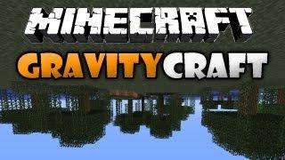 Minecraft: GravityCraft Mod - UPSIDE DOWN WORLD!