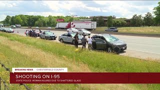 SUV shot at least 5 times on I-95 in Chesterfield