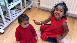 Ishfi plays with her Baby Sister Arfi