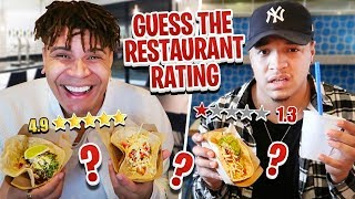 Guess The Restaurant Rating!!! (BEST or WORST Reviewed Restaurant In My City) FT WOLFIE