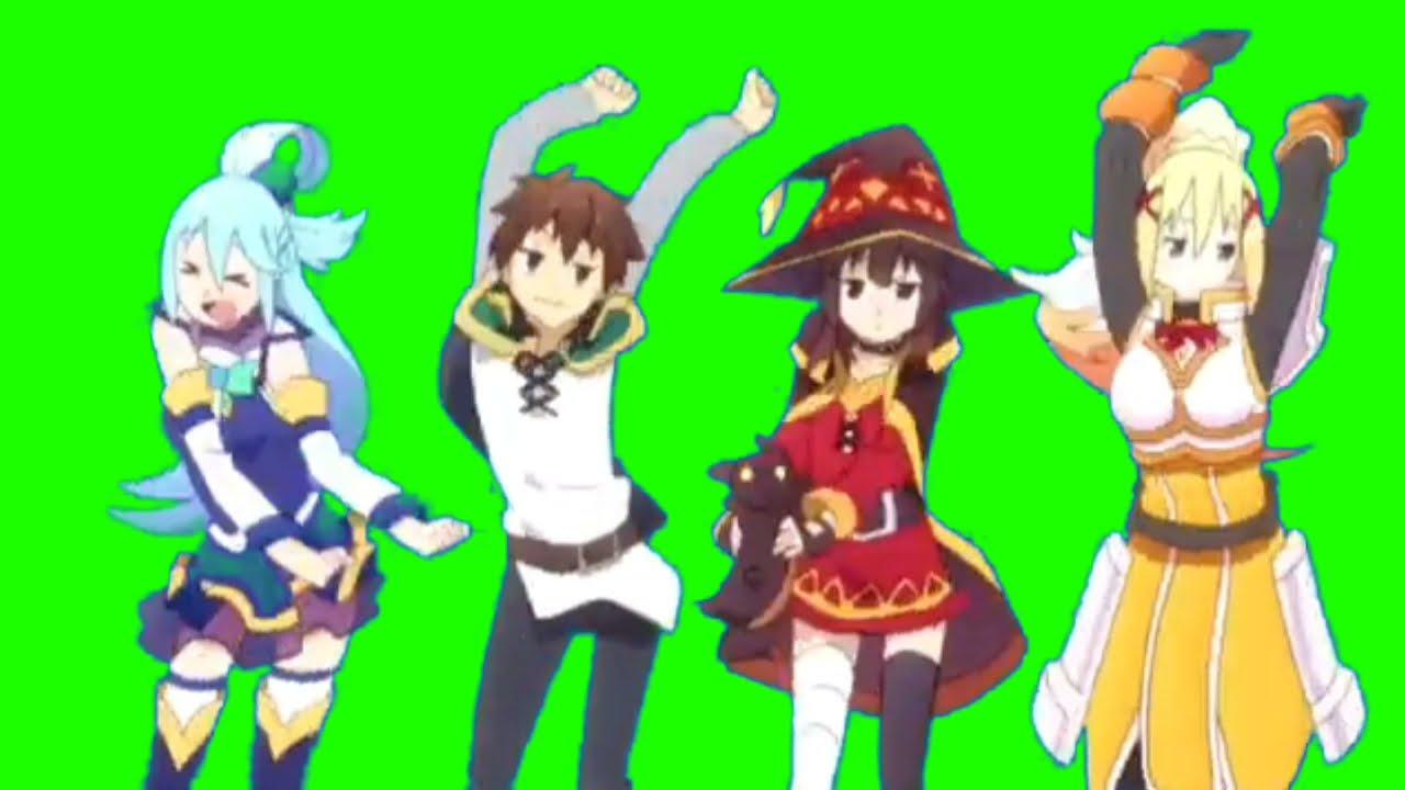 Anime Dance Green Screen (with Music)