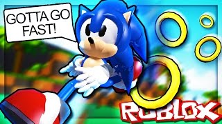 BEING SONIC IN ROBLOX!