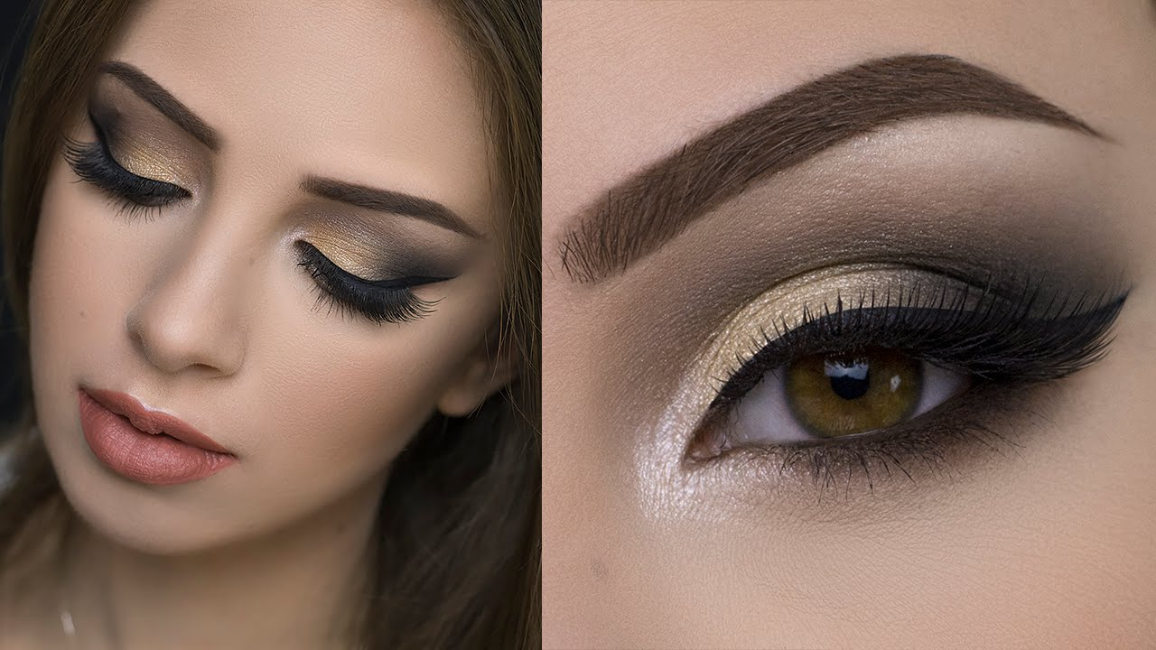 soft gold smokey eye tutorial