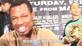 Sugar Shane Mosley interview after Collazo fight Boxingtalk Classic