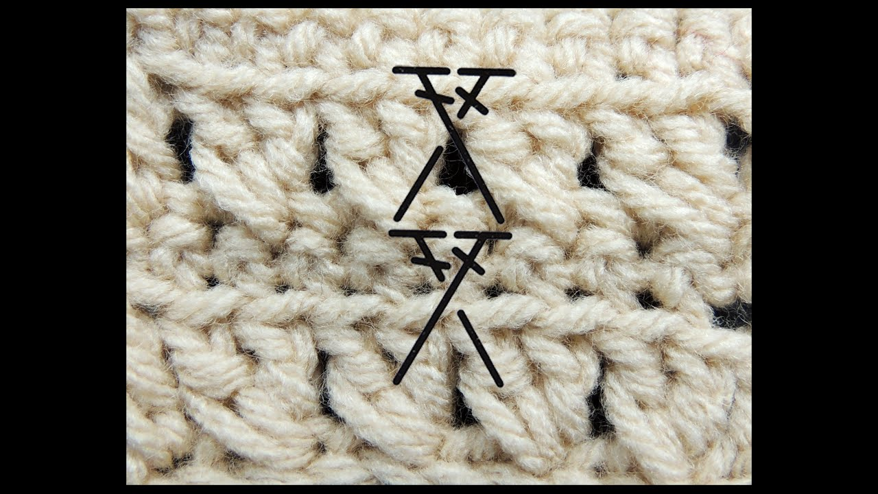 Curso Basico de Crochet : Punto Alto Cruzado - YouTube