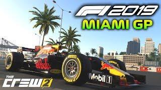 Driving the F1 2019 MIAMI GRAND PRIX Street Circuit in The Crew 2! (The Crew 2 F1 Freeroam)