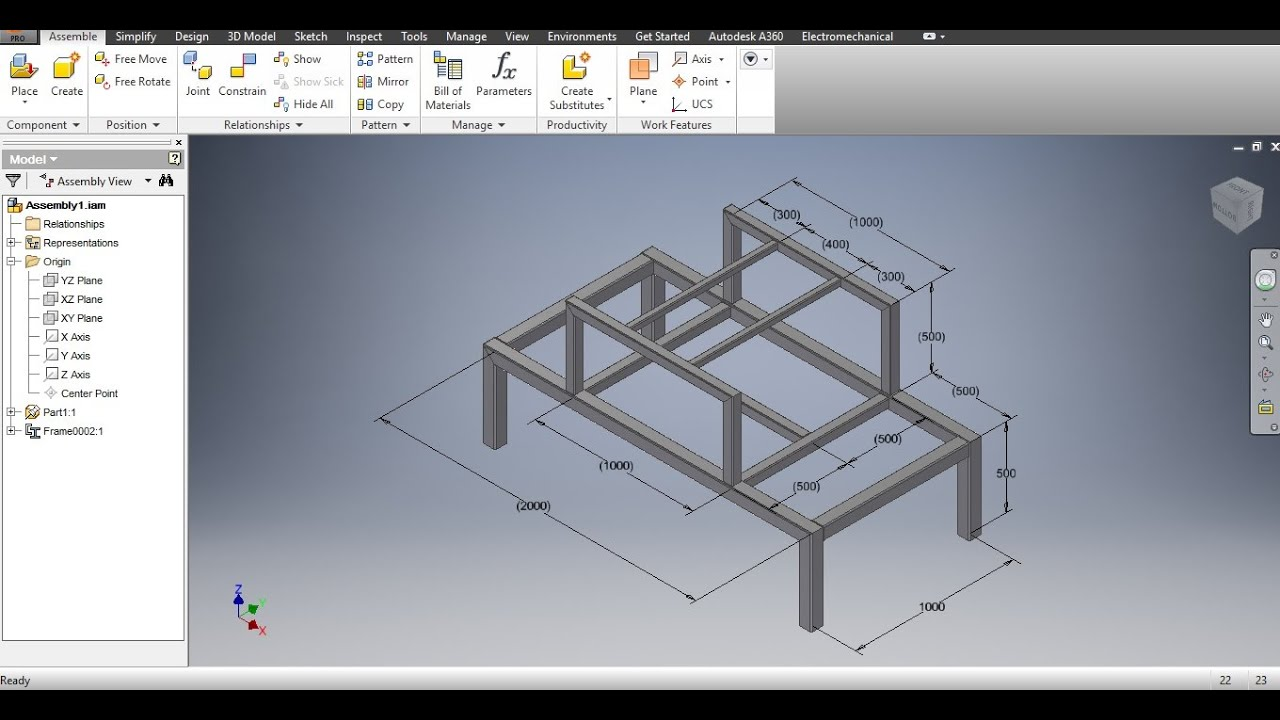 Autodesk Inventor 2016 3d Sketch Frame Generator Doovi