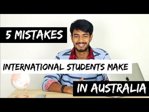 5 MISTAKES International students make | STUDY IN AUSTRALIA