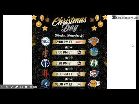 NBA Released 2017-2018 NBA Season Games and Christmas Games! - YouTube