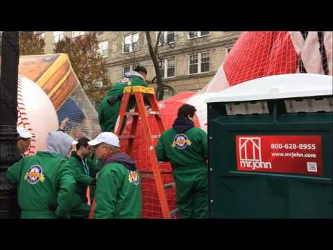 90TH ANNIVERSARY OF MACY'S THANKSGIVING DAY PARADE 2016 BALLOON INFLATION EVENT ON IN NEW YORK.