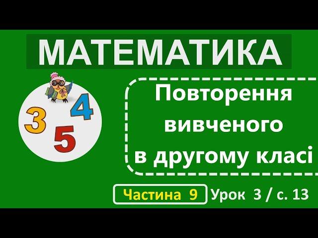 2 клас. Математика. Повторення вивченого в другому класі.
