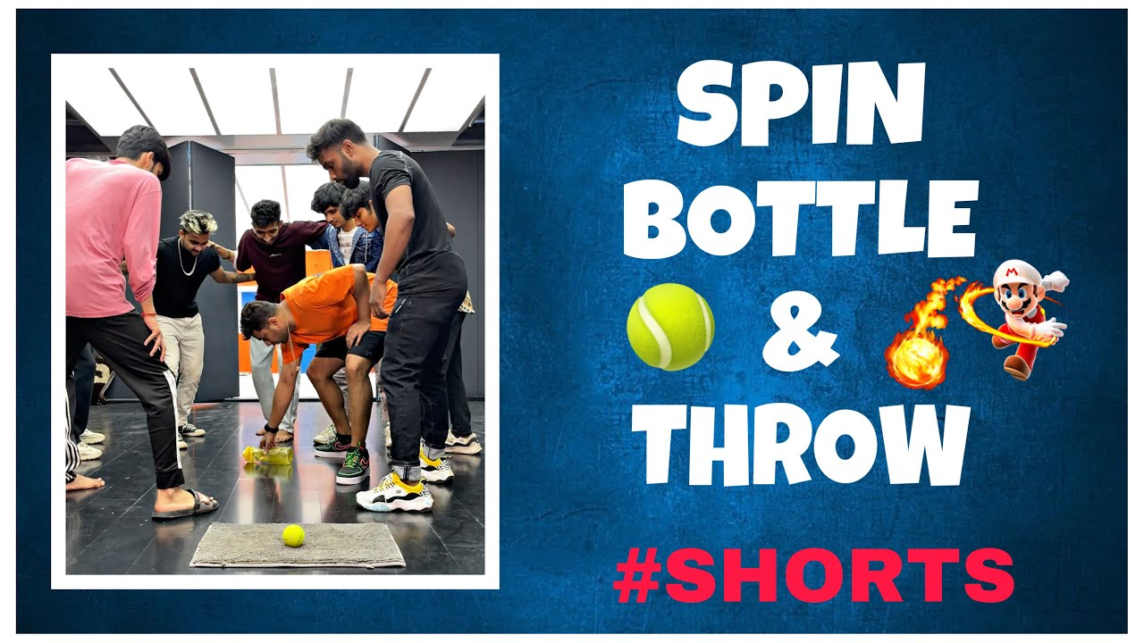 Spin Bottle & Throw 😅 #shorts
